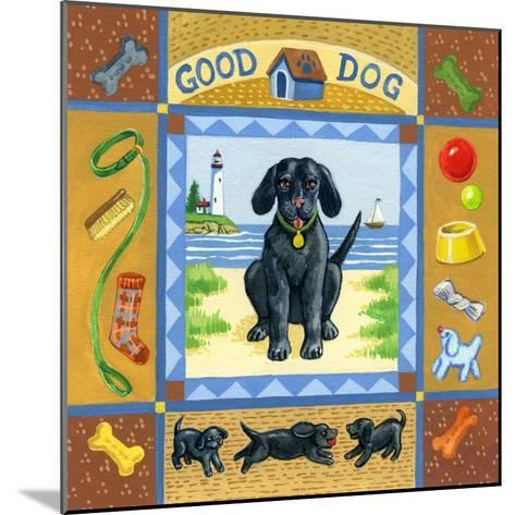 Good Dog Black Lab-Geraldine Aikman-Mounted Giclee Print