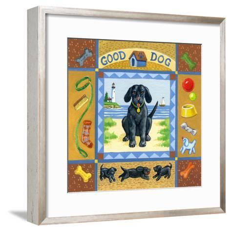 Good Dog Black Lab-Geraldine Aikman-Framed Art Print