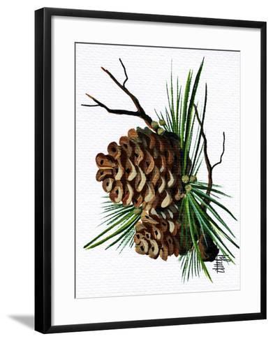 pine cone copy brochure-Debbi Wetzel-Framed Art Print