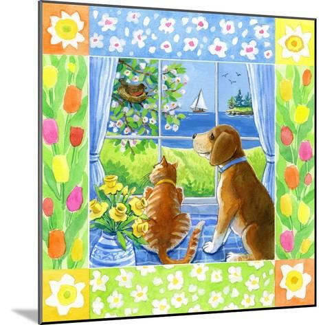 Spring Cat and Dog-Geraldine Aikman-Mounted Giclee Print