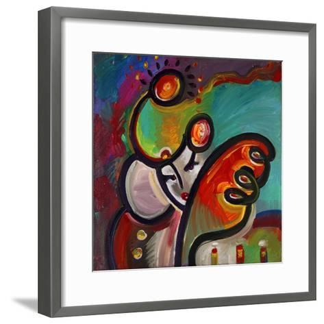 Mardi Gras Lady B-Howie Green-Framed Art Print