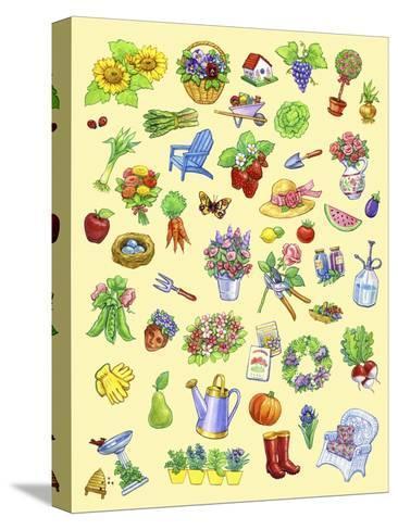 Garden Theme-Geraldine Aikman-Stretched Canvas Print