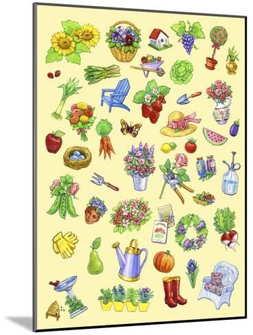 Garden Theme-Geraldine Aikman-Mounted Giclee Print