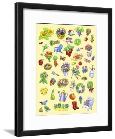 Garden Theme-Geraldine Aikman-Framed Art Print