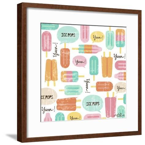 Yum Ice Pops-Elizabeth Caldwell-Framed Art Print