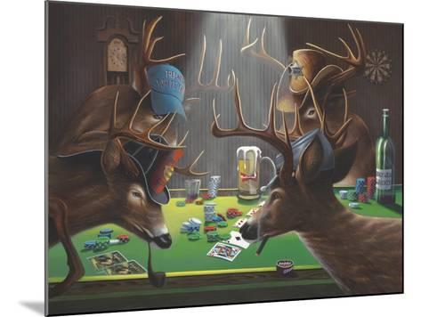 Playing for Doe-Geno Peoples-Mounted Giclee Print