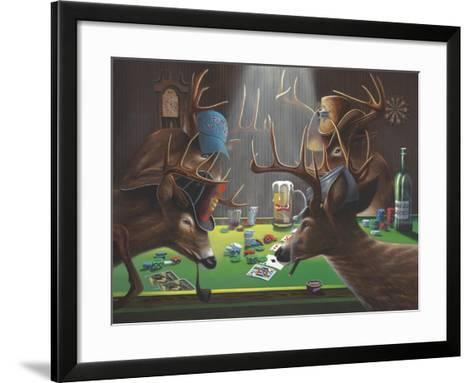 Playing for Doe-Geno Peoples-Framed Art Print