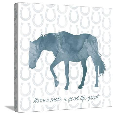 Horse Great-Erin Clark-Stretched Canvas Print