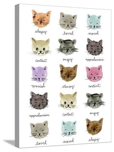 Moody Cats-Elizabeth Caldwell-Stretched Canvas Print