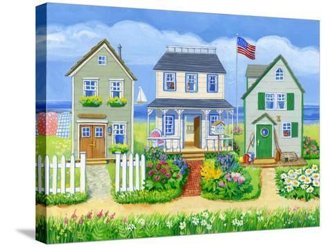 Beach Cottages-Geraldine Aikman-Stretched Canvas Print