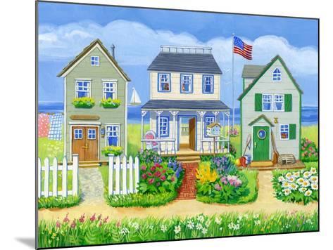 Beach Cottages-Geraldine Aikman-Mounted Giclee Print