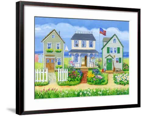 Beach Cottages-Geraldine Aikman-Framed Art Print