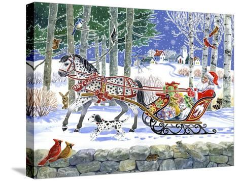 Santa's Sleigh Ride-Geraldine Aikman-Stretched Canvas Print