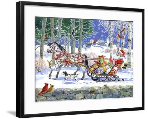 Santa's Sleigh Ride-Geraldine Aikman-Framed Art Print