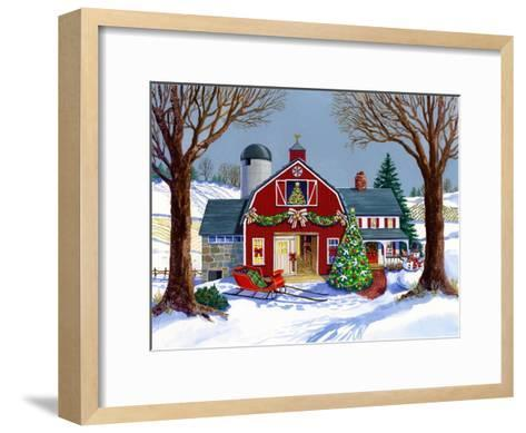 The Red Sleigh Barn-Geraldine Aikman-Framed Art Print