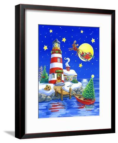 Striped Lighthouse-Geraldine Aikman-Framed Art Print