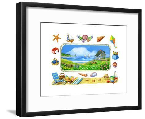 Cottage on the Cove-Geraldine Aikman-Framed Art Print