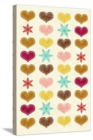 Christmas - Heart Flakes-Gaia Marfurt-Stretched Canvas Print