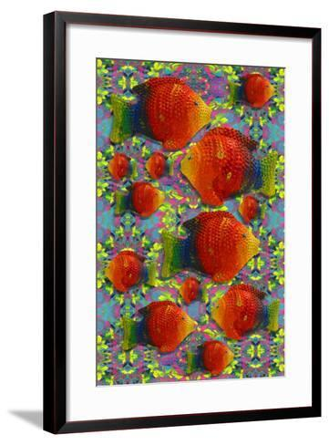 Pop Art Fish-Howie Green-Framed Art Print