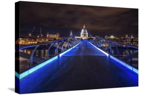 Millennium Bridge-Giuseppe Torre-Stretched Canvas Print
