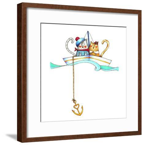 Catboat-Deborah Faenza-Framed Art Print
