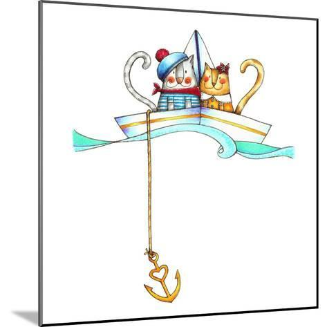 Catboat-Deborah Faenza-Mounted Giclee Print