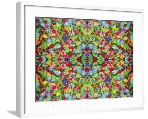 Flowers Pink 715-Howie Green-Framed Art Print