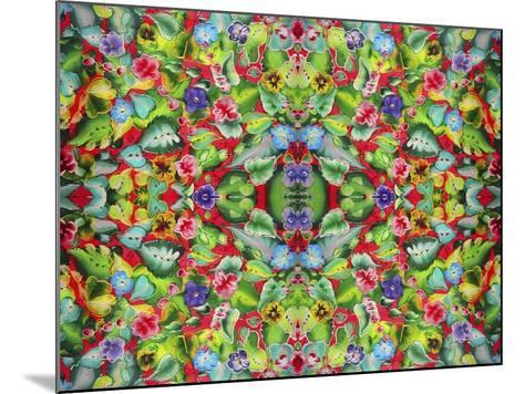 Flowers Pink 715-Howie Green-Mounted Giclee Print