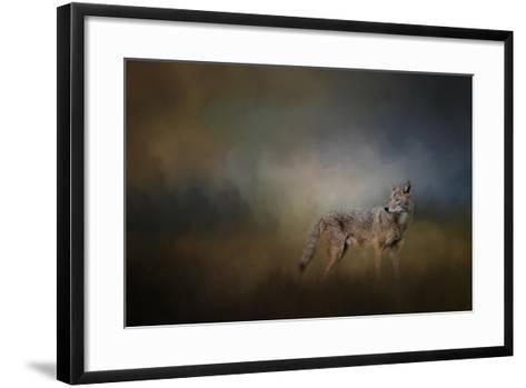 Coyote at Shiloh-Jai Johnson-Framed Art Print