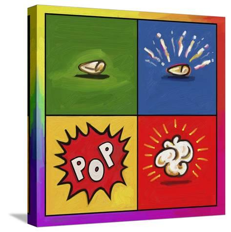Popcorn Pop-Howie Green-Stretched Canvas Print