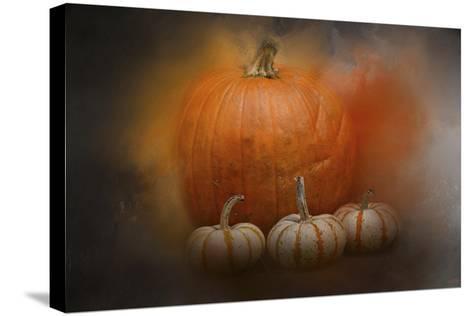 Pumpkins in October-Jai Johnson-Stretched Canvas Print
