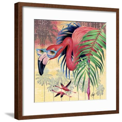 Cool Flamingoes-James Mazzotta-Framed Art Print