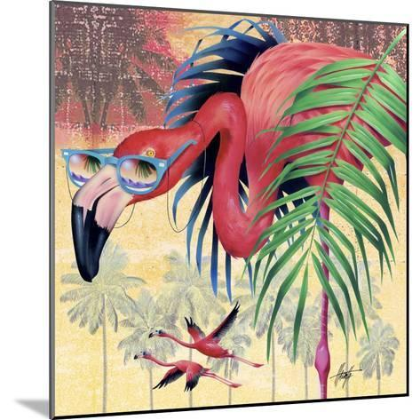 Cool Flamingoes-James Mazzotta-Mounted Giclee Print