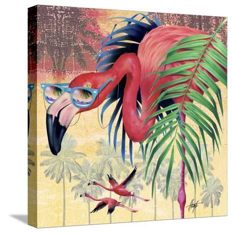 Cool Flamingoes-James Mazzotta-Stretched Canvas Print