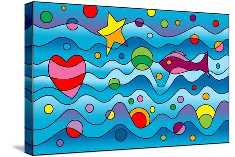 Underwater-Howie Green-Stretched Canvas Print