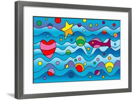 Underwater-Howie Green-Framed Art Print