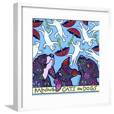 Raining Cats on Dogs-Denny Driver-Framed Art Print