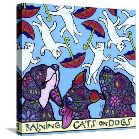 Raining Cats on Dogs-Denny Driver-Stretched Canvas Print