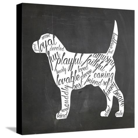 Dog-Erin Clark-Stretched Canvas Print
