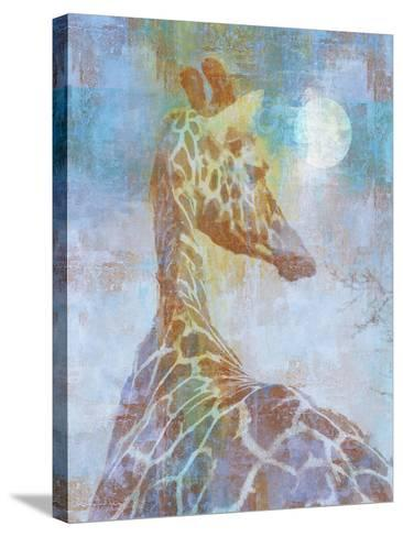 Africa Giraffe-Greg Simanson-Stretched Canvas Print