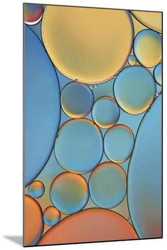 Blue and Apricot Drops-Cora Niele-Mounted Photographic Print
