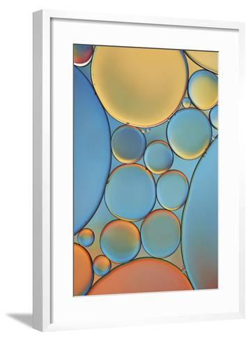 Blue and Apricot Drops-Cora Niele-Framed Art Print