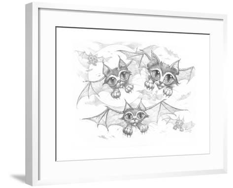 Bat Cats Pencil-Jeff Haynie-Framed Art Print