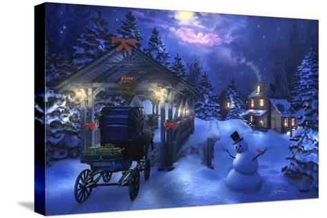 Snowman Crossing-Joel Christopher Payne-Stretched Canvas Print