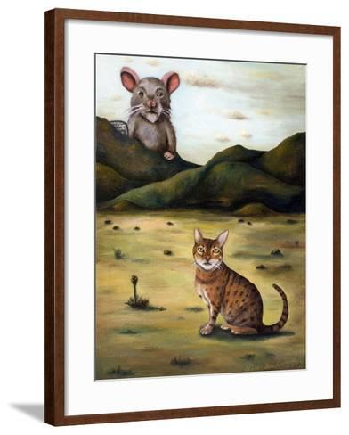 My Cat's Worst Nightmare-Leah Saulnier-Framed Art Print