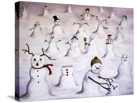 Mystery Revealed at Snowman Hill-Leah Saulnier-Stretched Canvas Print