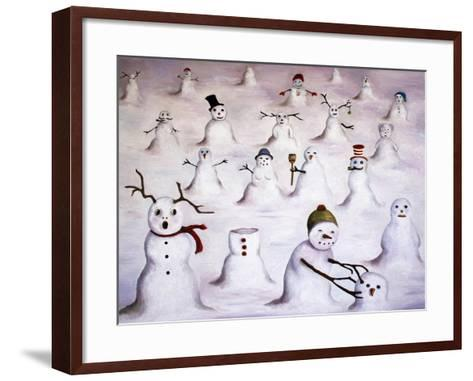 Mystery Revealed at Snowman Hill-Leah Saulnier-Framed Art Print