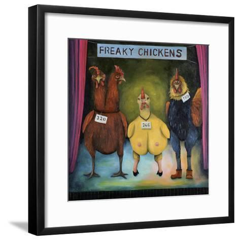 Freaky Chickens-Leah Saulnier-Framed Art Print
