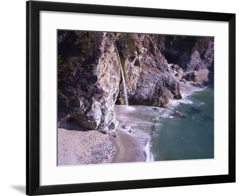 Waterfall Beach 2-Moises Levy-Framed Art Print