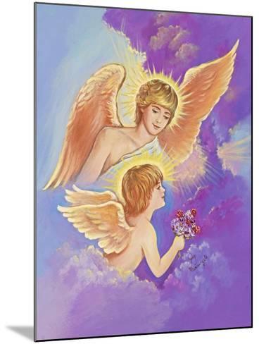 Two Angels-Judy Mastrangelo-Mounted Giclee Print